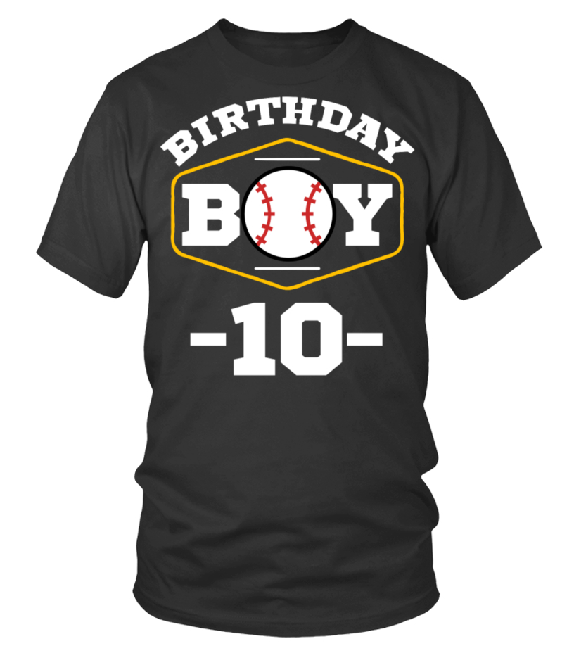 10th Birthday Party Baseball Ten Apparel