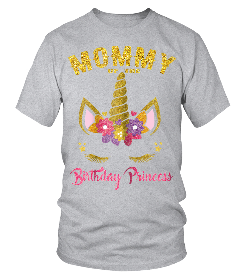 cff4d888 Mommy of the Birthday Princess Unicorn Girl T Shirt Outfit - T-shirt ...