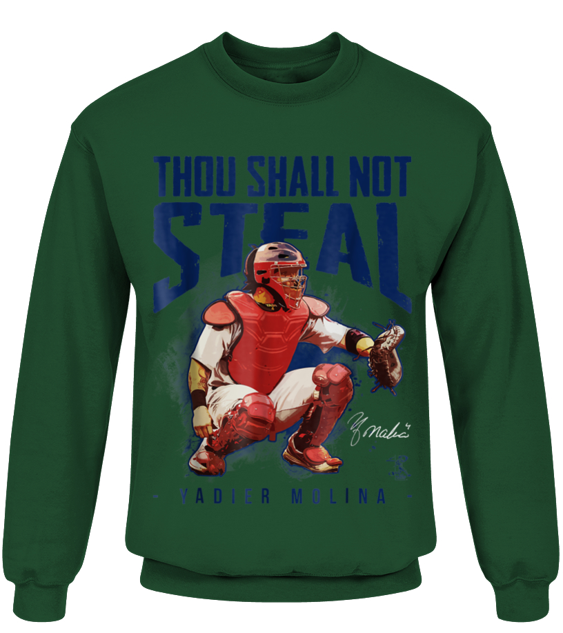 watch fb37a aac7b Yadier Molina Thou Shall Not Steal T-Shirt - Apparel - T ...