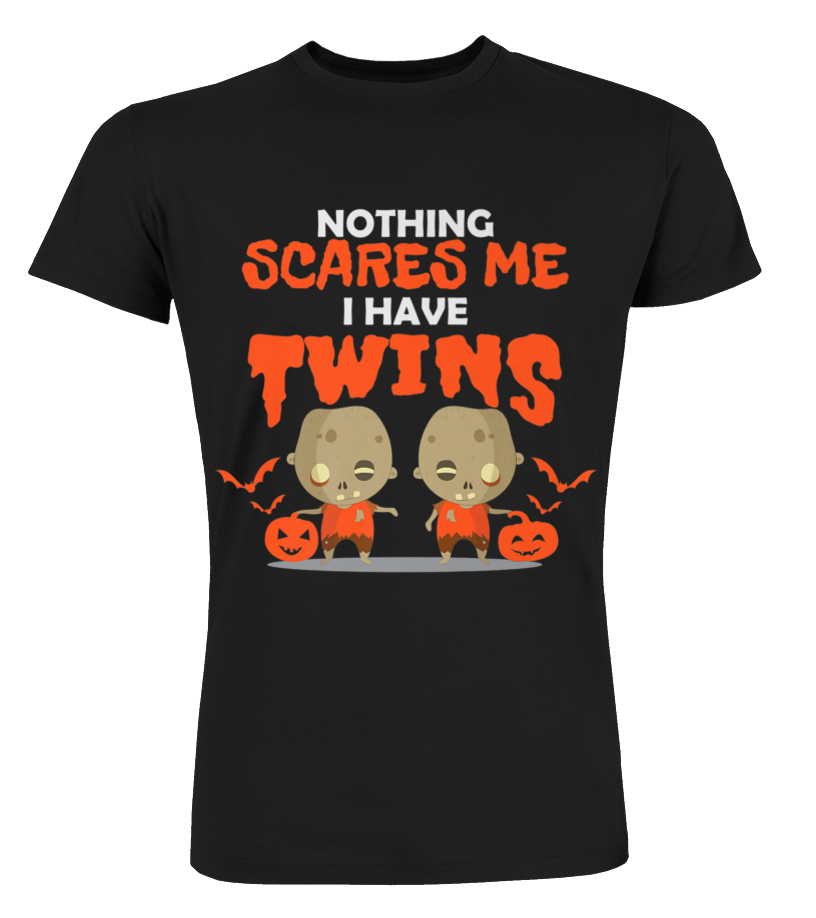 e35d83ab Funny Twin Mom & Dad Halloween T-shirt for Parents of Twins - T ...