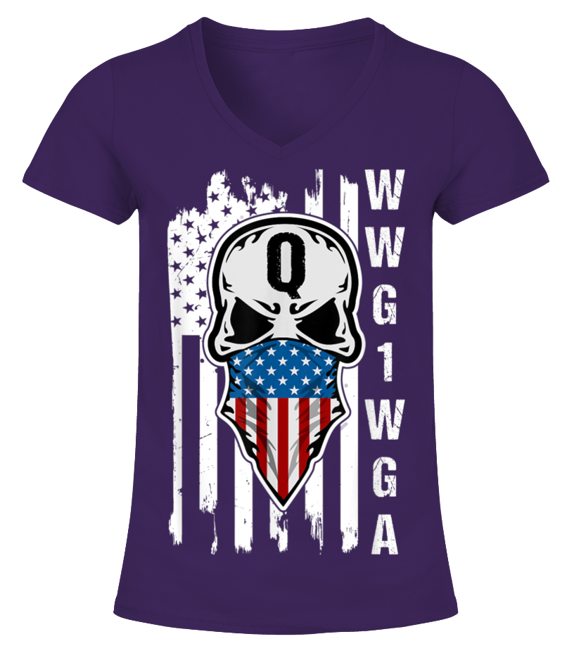 Tee Hunt Distressed Q American Flag WWG1WGA Muscle Shirt Deep State Patriotic Sleeveless