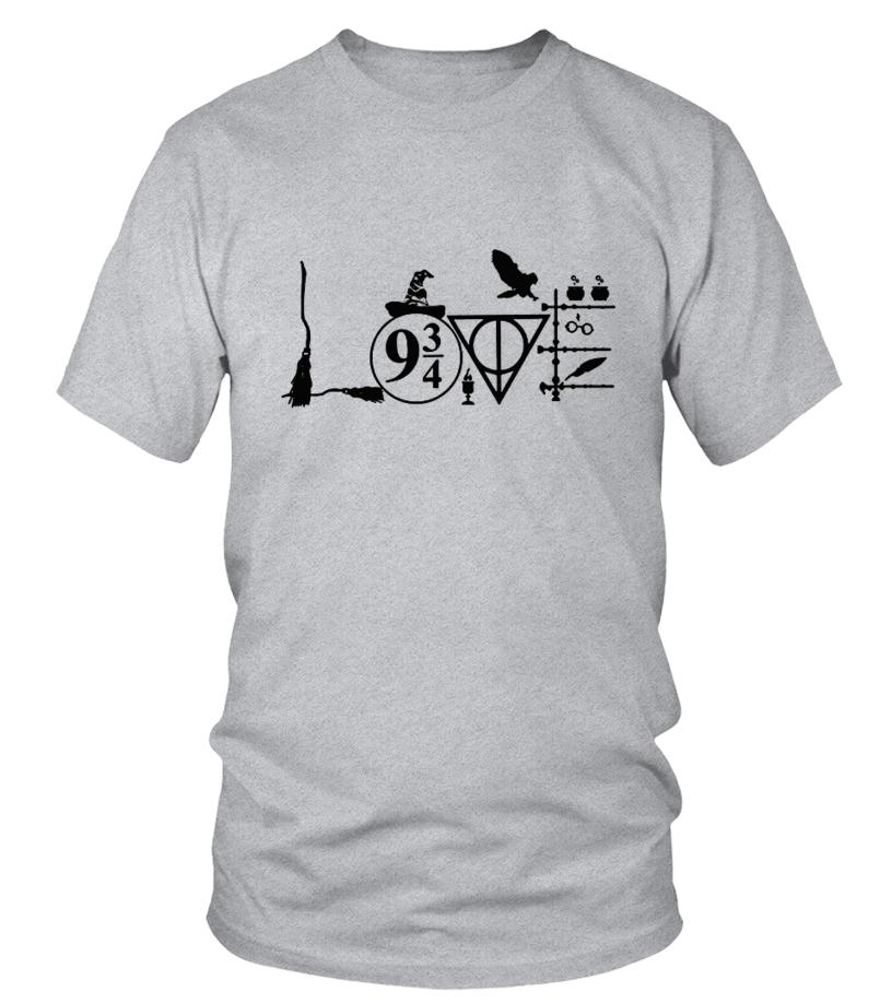 t-Shirt Harry Potter Camiseta de Color Gris Oscuro