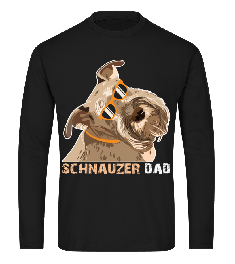 abe9514f Schnauzer Dad Shirt for Dog Lovers Cool Fathers Day Gifts Idea - T ...
