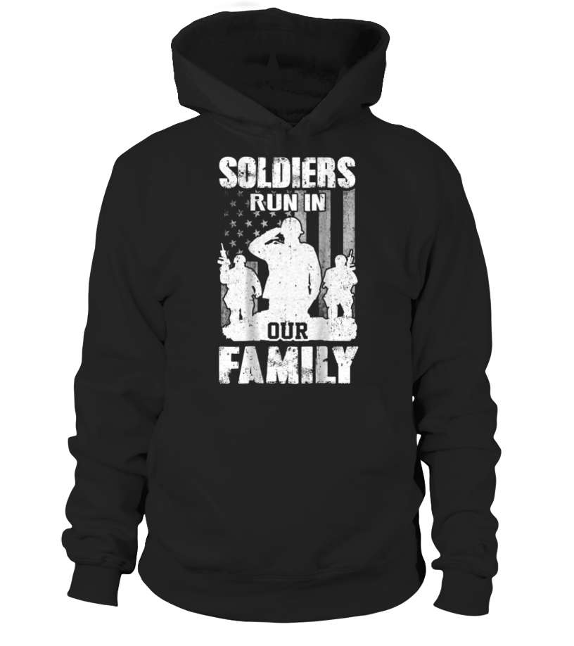 2b5af99d FatherDay Shirt Soldiers Run In Our Family Veteran Dad Son Father T ...