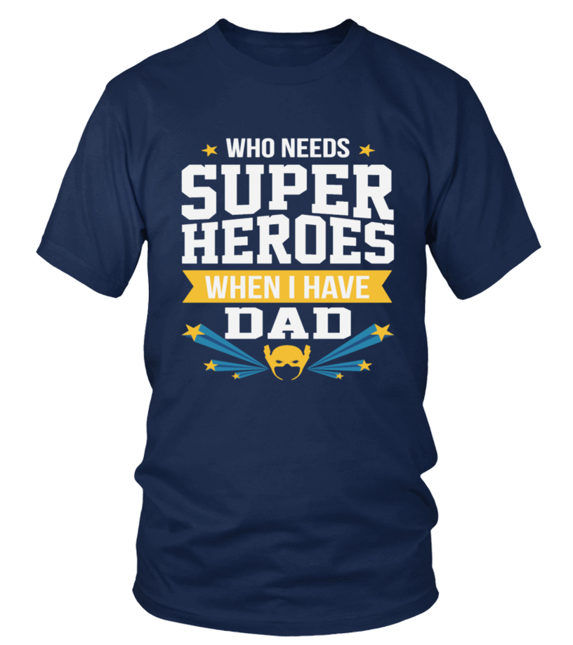 18693400f FUNNY BEST DAD DADDY FATHER DAY SUPERHER - T-shirt | Teezily