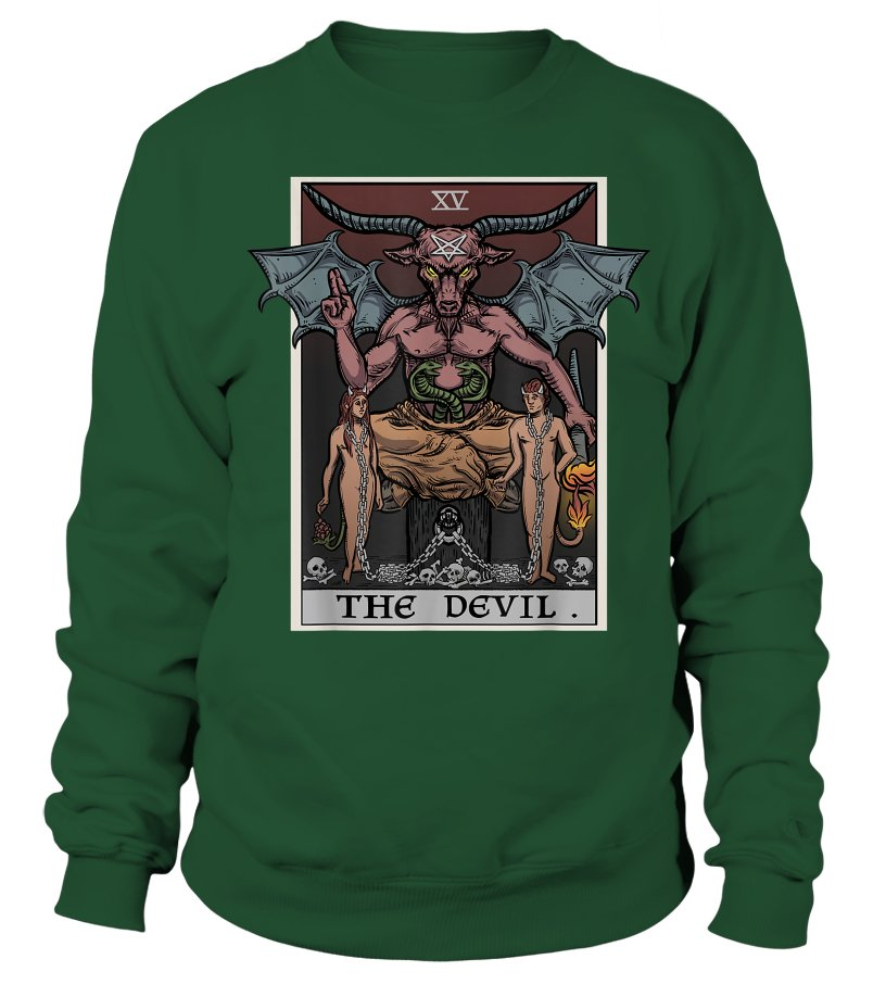 The Devil Tarot Card Shirt Pagan Witch Gothic Clothing Gifts