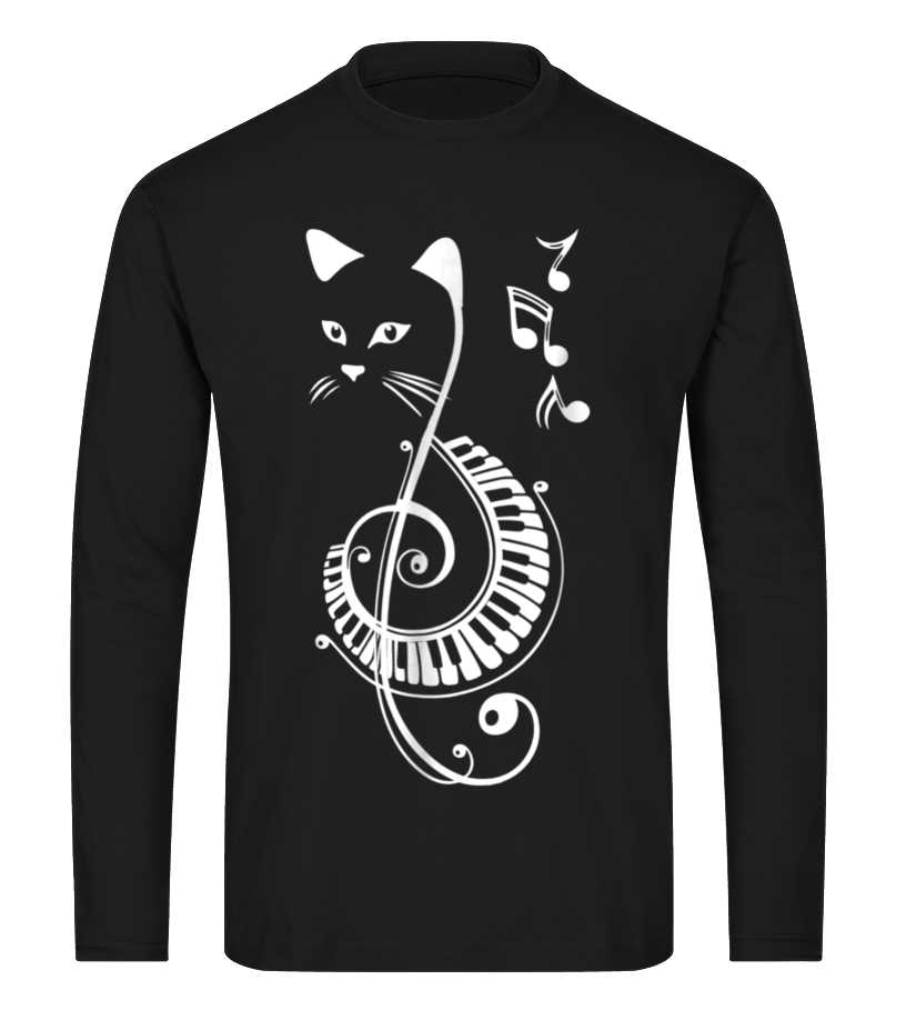 Cat Lovers Gifts-Musical Cat-Cat Lovers Shirt Musician Gift