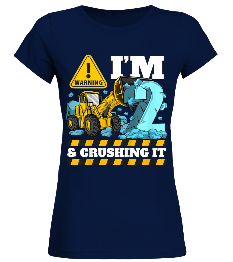 Boys Digger Toddler 2nd Birthday Personalised Funny Printed T-Shirt Tee Top