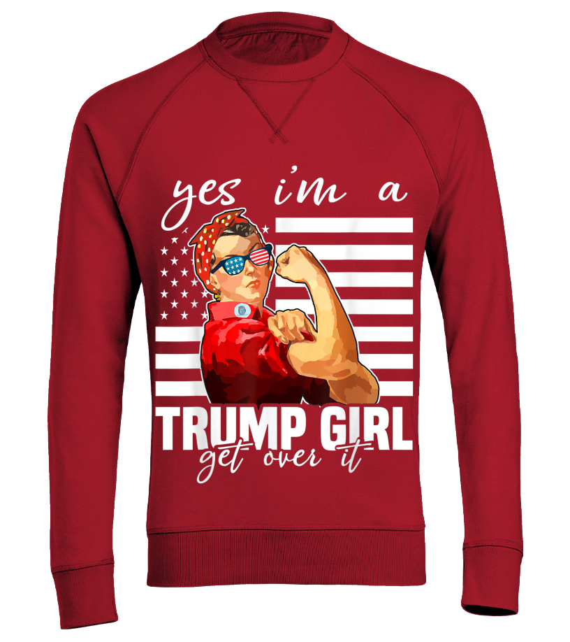 I/'m A Trump Girl DEAL WITH IT Re-Elect Trump 2020 LADIES JUNIOR FIT T Shirt 951