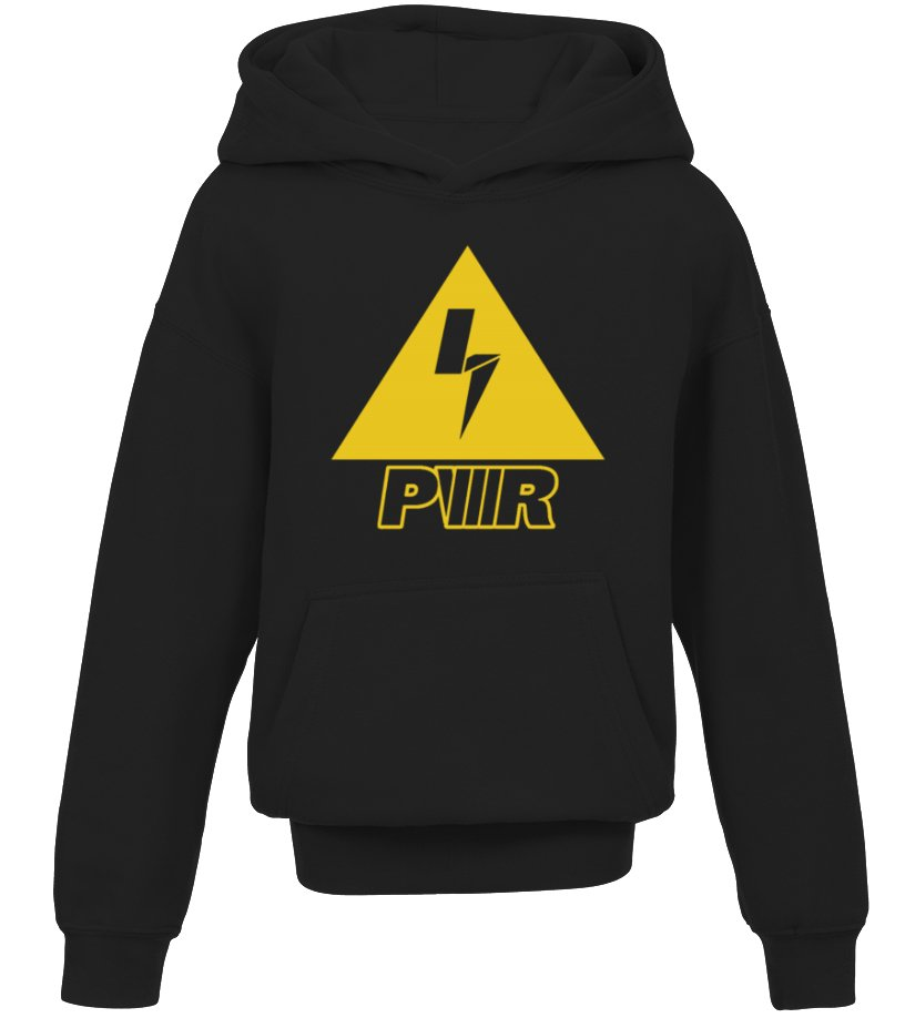 Yellow Charge Power Bolt Kid Hoodie T Shirt Teezily