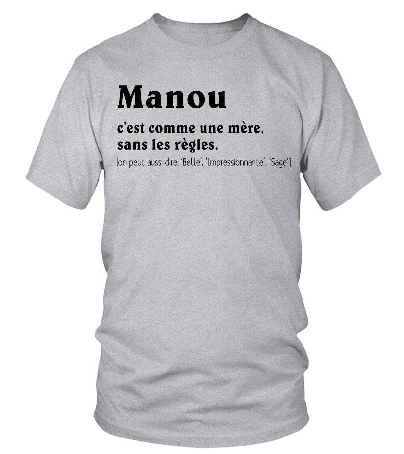 TEEZILY T-Shirt Femme Maman Manou