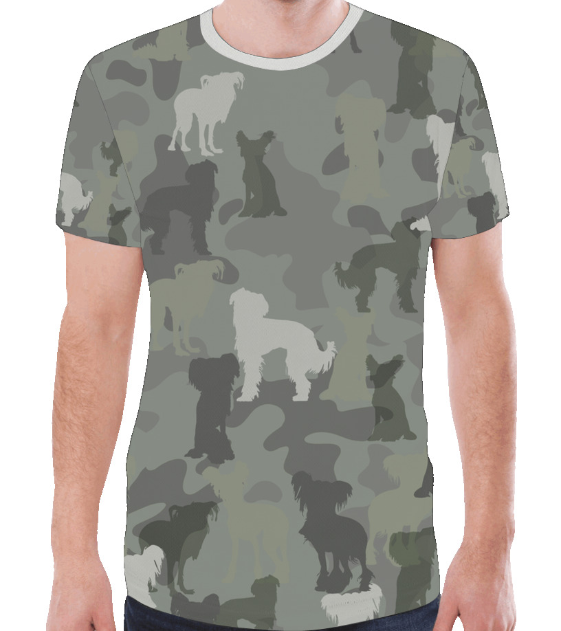 Chinese Crested Hairless Camouflage T