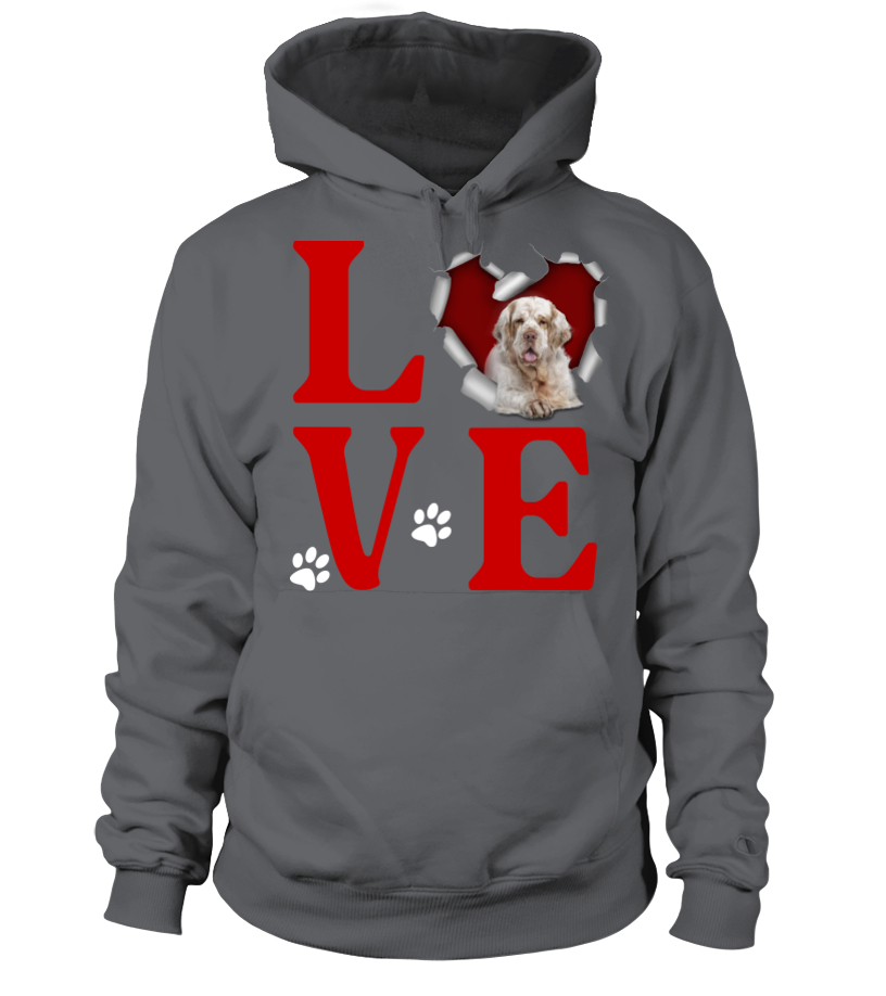 I Love Heart Clumber Spaniels Sweatshirt