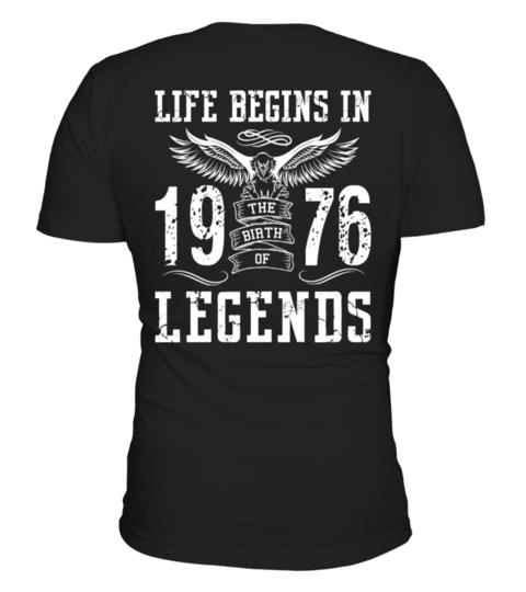 Maglietta LIFE BEGINS IN 1976 LEGENDS | Teezily