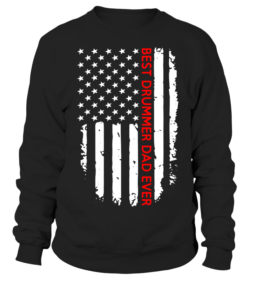 Mens Best DRUMMER DAD Ever American Flag - Father's Day T-Shirt - Limited  Edition