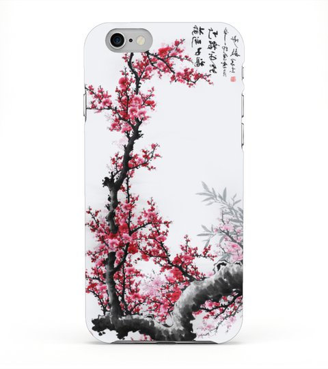 Chinese cherry blossom painting case