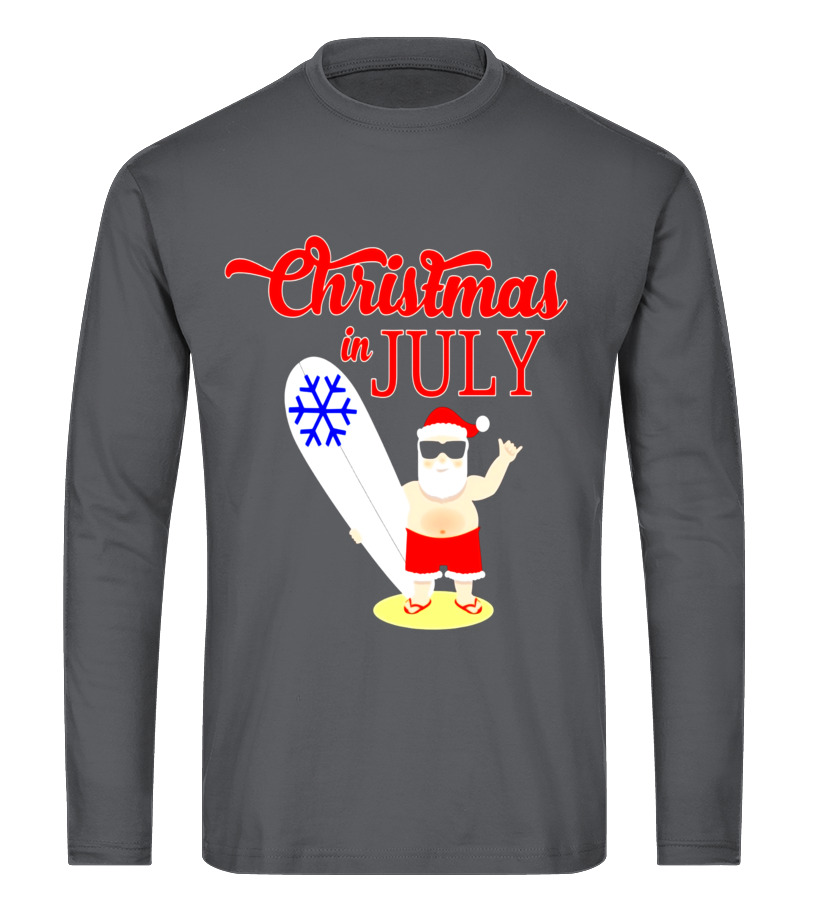 b000f9880 Christmas In July Funny T-Shirt with Santa Claus - T-shirt | Teezily