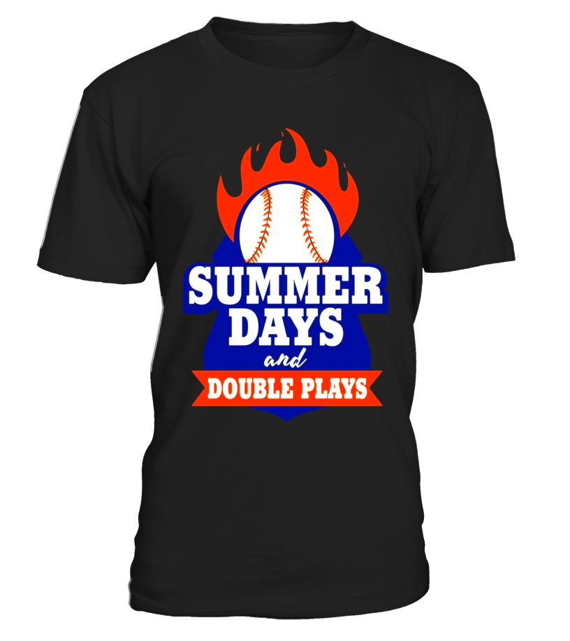 bef8569e255 Summer Days And Double Plays! T-Shirt - T-shirt