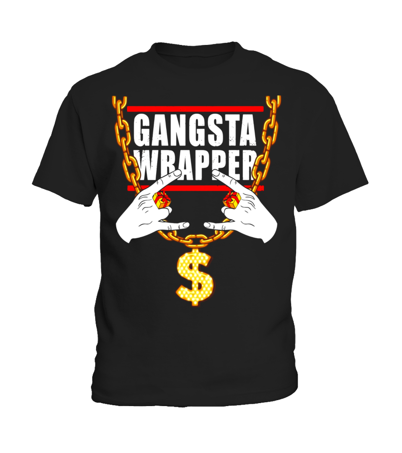 b12b0a47a9 Gangsta Wrapper Funny Christmas Holiday Gift T-Shirt - T-shirt | Teezily