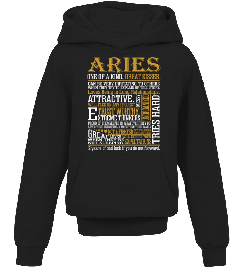 Aries One Kind Great Kisser Awesome Zodiac Gift - T-shirt