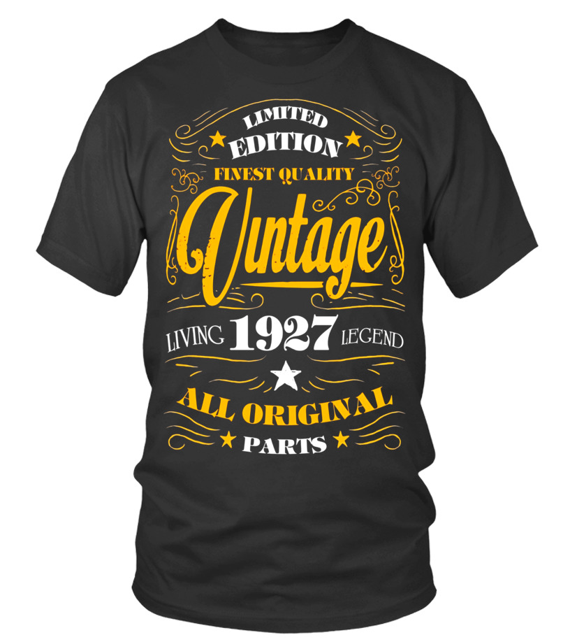 1927 T Shirt 90th Birthday Gifts 90 Year Old B Day