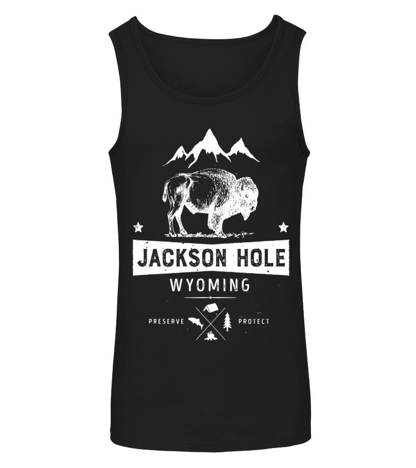 T-shirt - Jackson Hole Wyoming Vintage Bison Buffalo T Shirt
