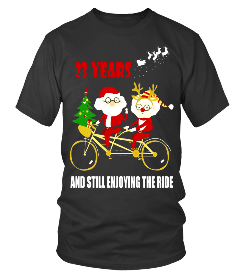 Christmas Shirt 23rd Wedding Anniversary Gift For Couple T Shirt