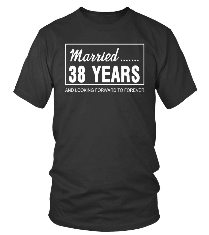 38th Wedding Anniversary Gifts for Him Her Couples T-Shirt - T-shirt