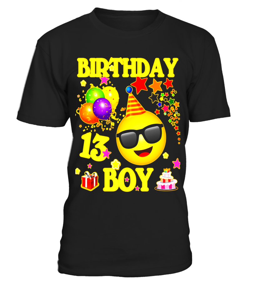13 Birthday Boy Shirt Years Old 13th Gift
