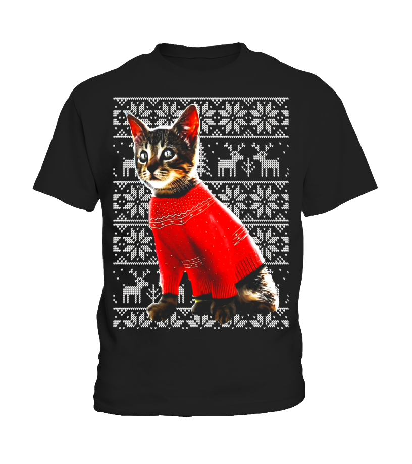 Christmas Cat Sweater.Ugly Christmas Sweater Cat Shirt Christmas Cat Sweater Shirt