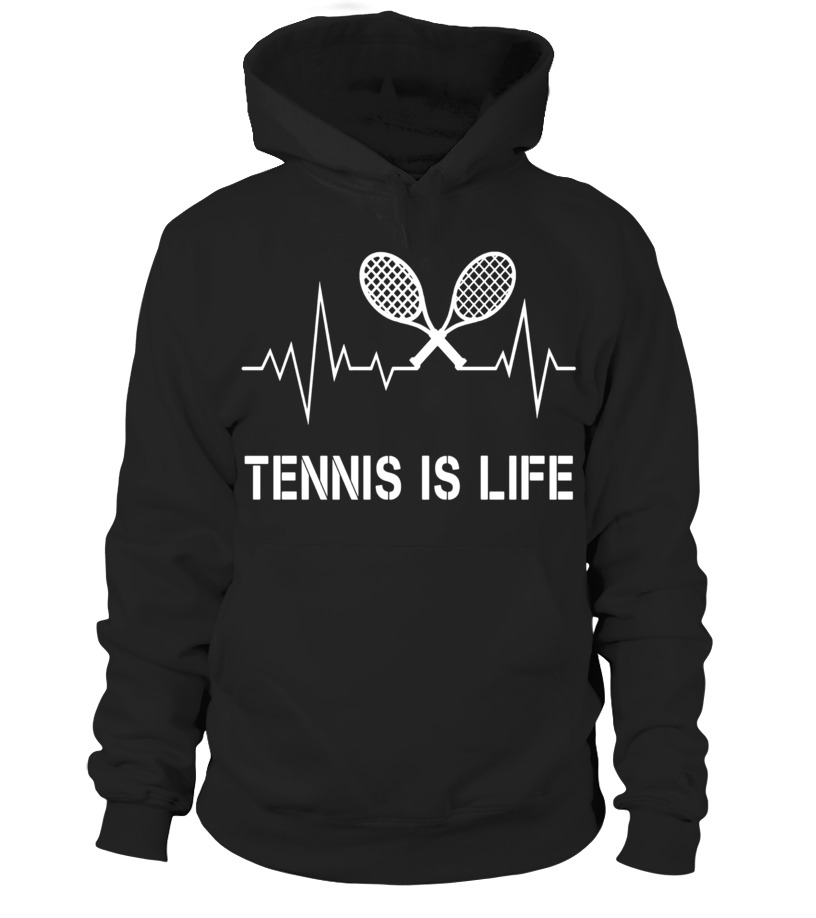 Tennis Is Life Heartbeat T-Shirt - Player Court Coach Gifts - Hoodie ... 5be98e6909175