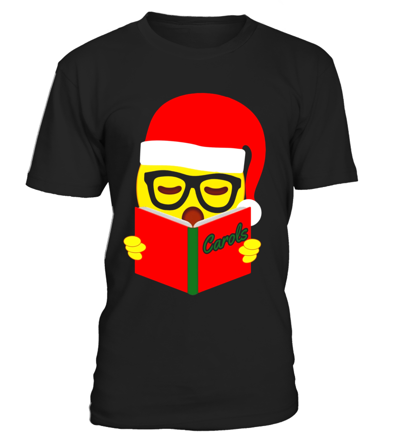 Funny Singing Emoji Christmas T-Shirt for Choir Singers - T