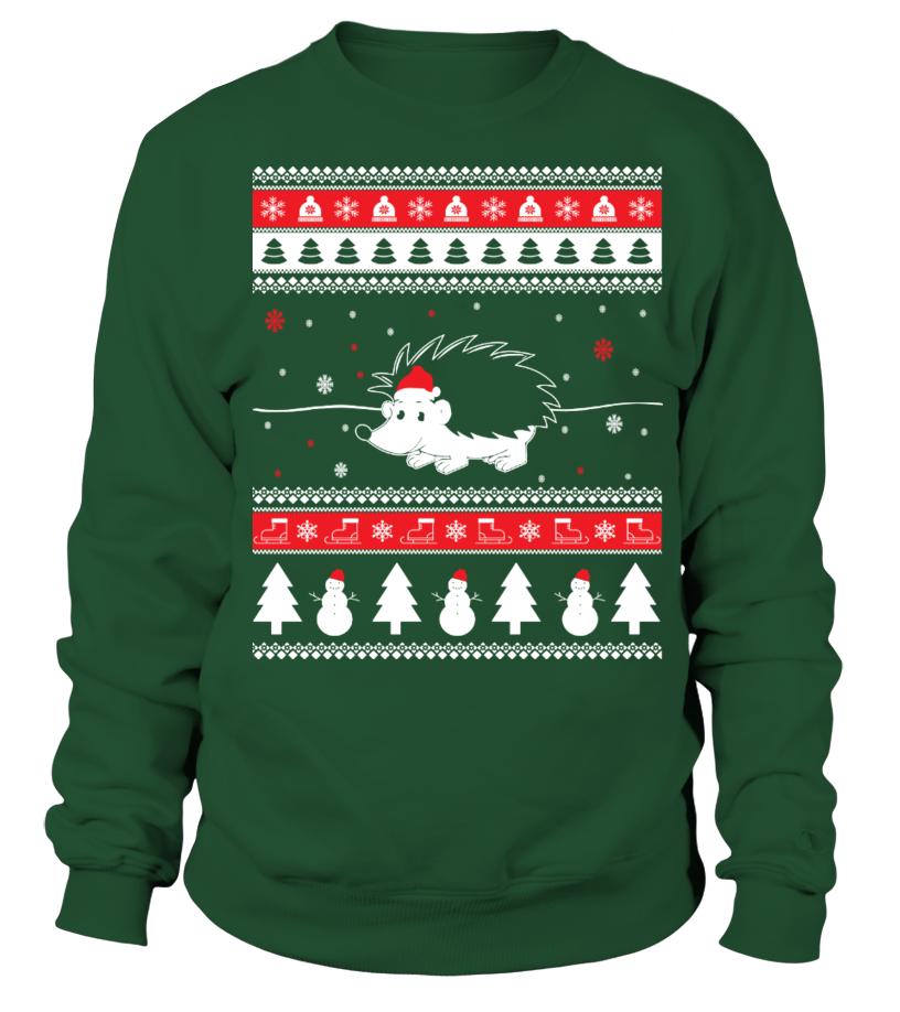 Hedgehog Christmas Jumper.Hedgehog Ugly Christmas Sweater Sweatshirt Teezily