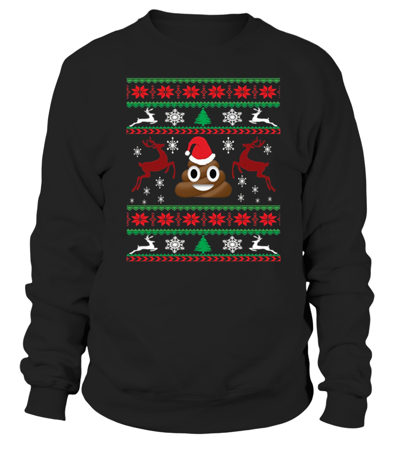 239e4ab654c poop emoji christmas ugly sweater shirt - Sweatshirt