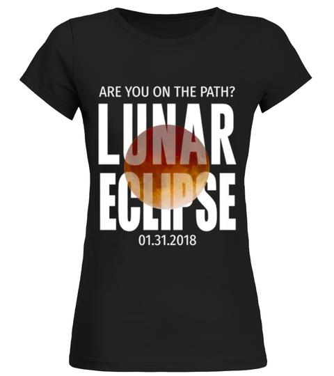 Camiseta Cute lunar eclipse 2018   Teezily