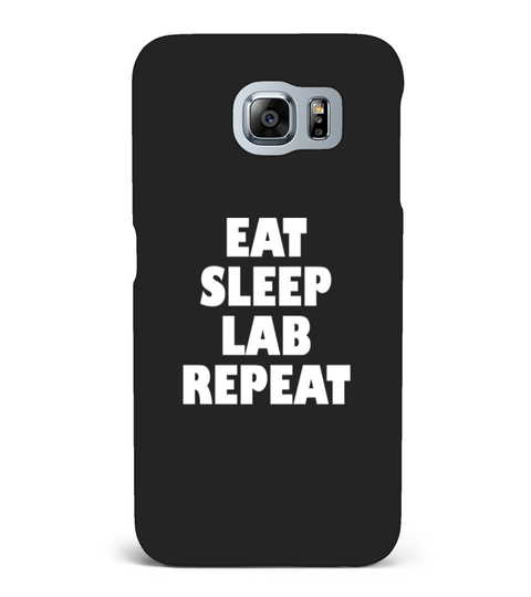 EAT SLEEP LAB REPEAT T-SHIRT Samsung Galaxy S6 hoesje | Teezily