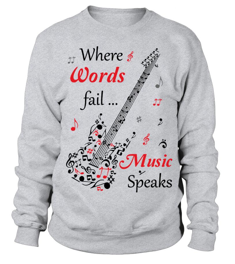 Electric Guitar full of music notes - Sweatshirt | Teezily