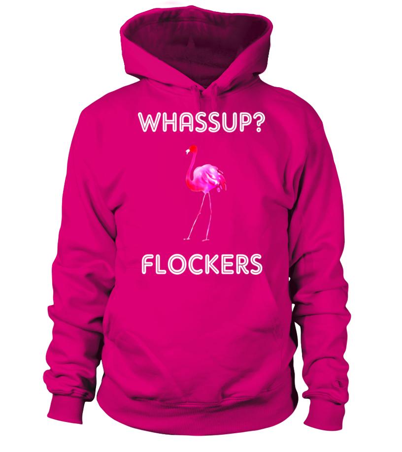 243afdb8a1 Whassup? Flockers Funny Flamingo Shirt with Pink Flamingo - T-shirt ...