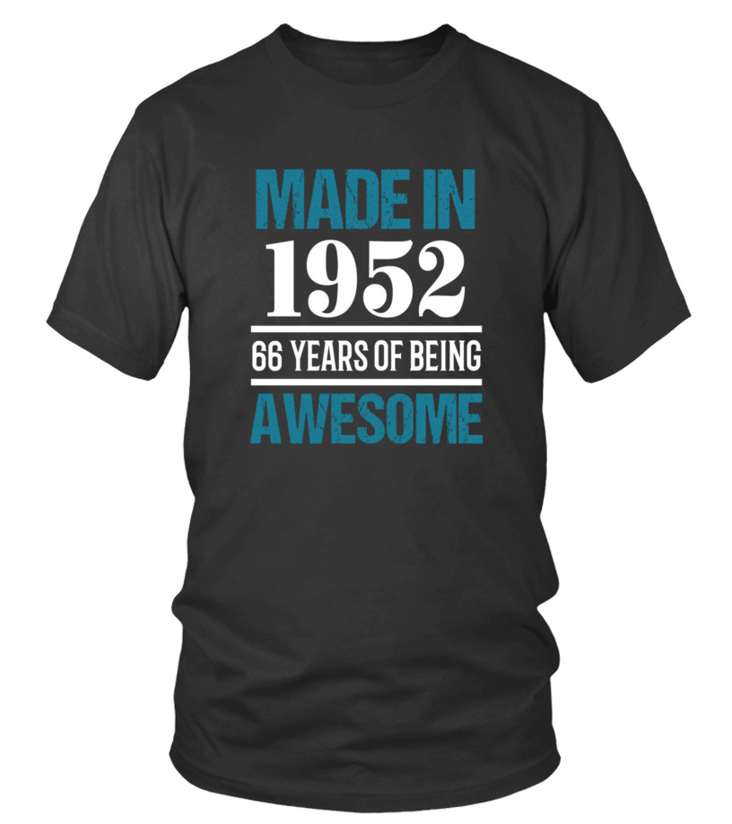 1952 Shirt66th Birthday Gift For Adults
