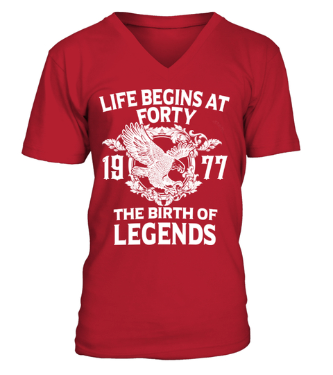 Life begins at 40- 1977 T-shirt | Teezily