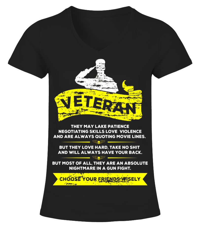 U.S. Veteran T Shirt - Choose Your Friends Wisely - Limited Edition ... 6aa35e1ea997