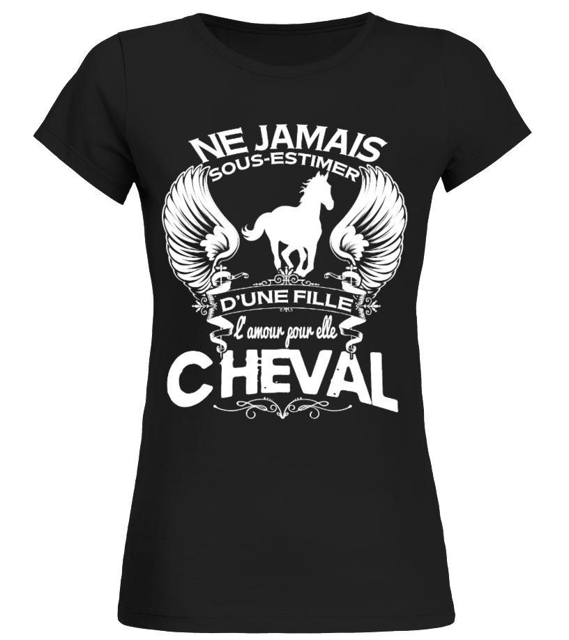 Camiseta Lamour Pour Elle Cheval Teezily