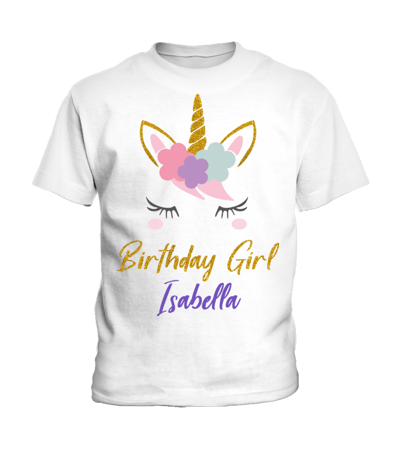 Personalized Unicorn Birthday Girl Shirt